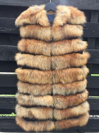 Безрукавка, меховая жилетка из лисы, жилет лиса S-M (36 разм. или 42)