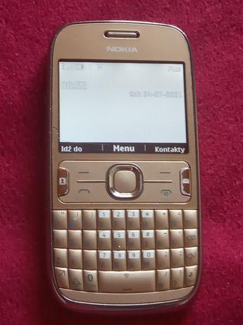 Nokia 302 Asha złota obudowa