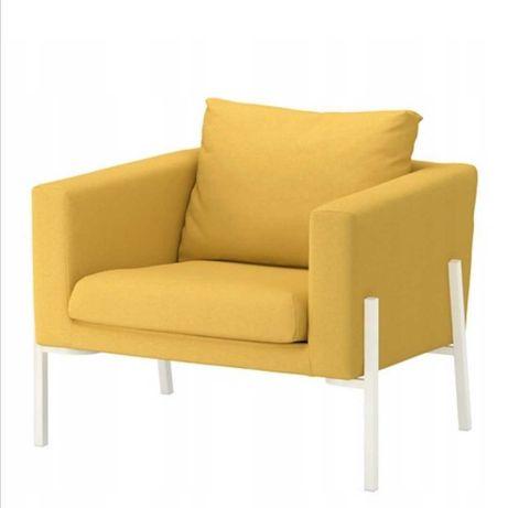 Żółty fotel Ikea KOARP