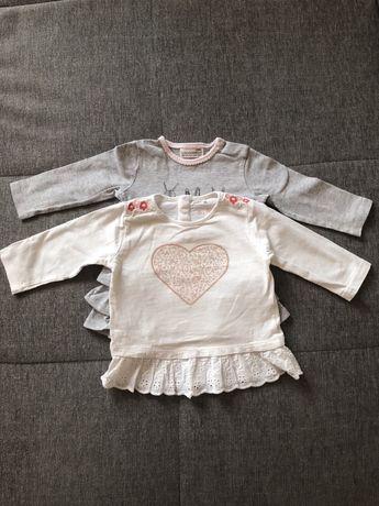 Bluzka bluzeczka z falbanką 51015 coccodrillo 2pak 68