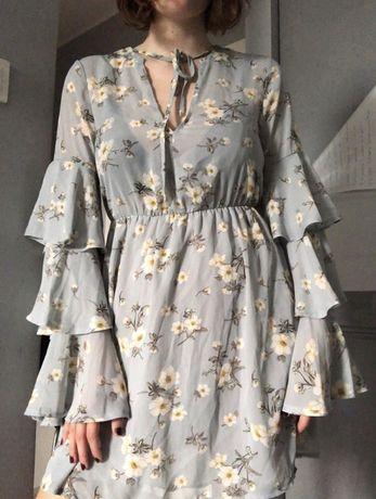 sukienka vintage kwiecista