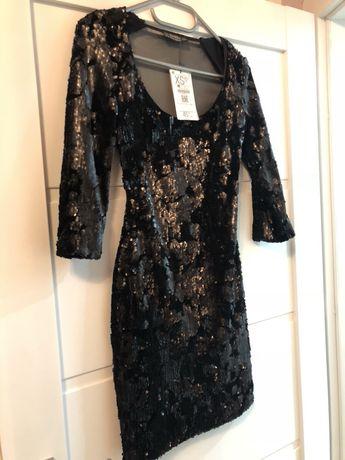 Nowa czarna cekiny glamour
