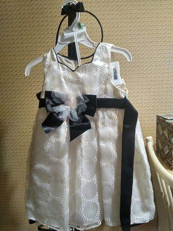 Сукня нарядна, платье+панталончики+ободок