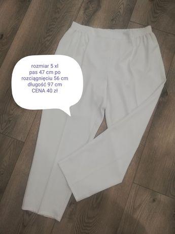 Spodnie letnie białe rozmiar 5 xl