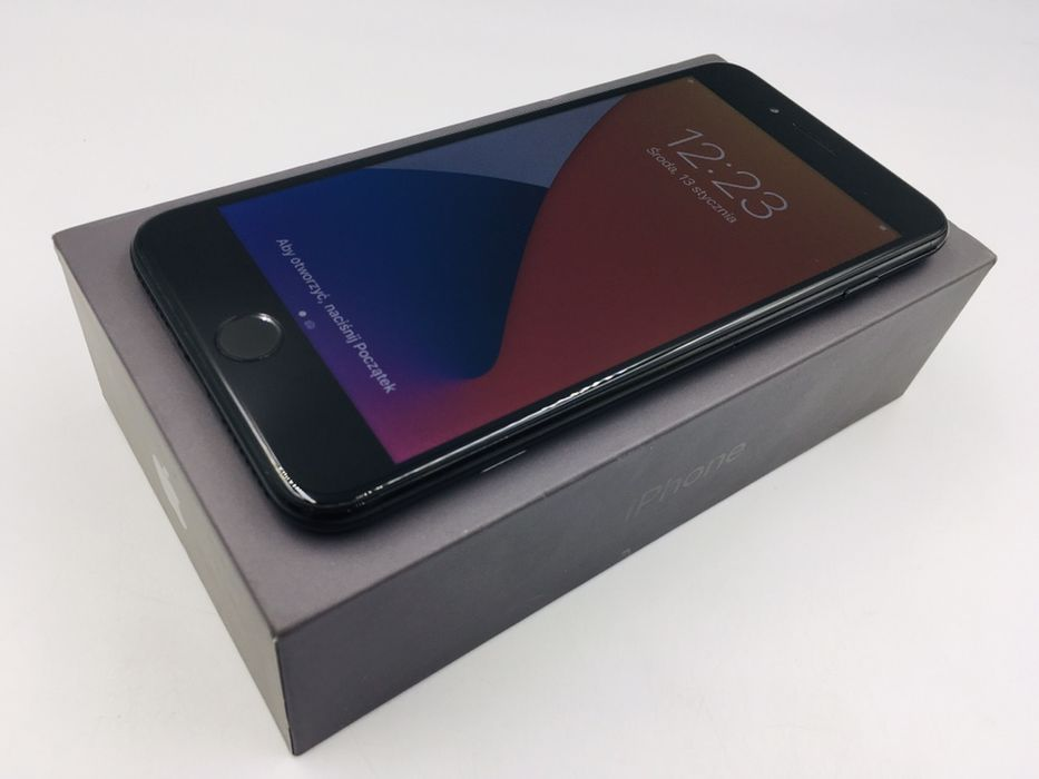 iPhone 7 PLUS 128GB JET BLACK • NOWA bat • GW 1 MSC • AppleCentrum Wrocław - image 1