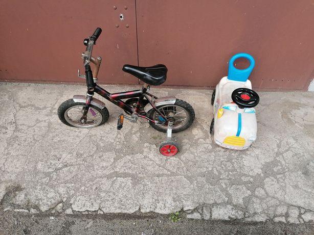 Sprzedam rowerek dziecięcy i jeździk.
