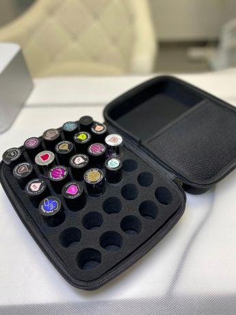 Kufer etui na lakiery do paznokcie czarny mały 30 lakierów