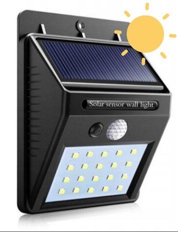 Lampa solarna 20Led z czujnikiem zmierzchu i ruchu, wodoodporna
