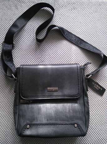 Saszetka torba listonoszka GINO LANETTI - RM0120 Czarna - wysyłka 1zł!