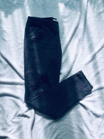 Camaieu szare spodnie jeansy z zamkami 42 XL