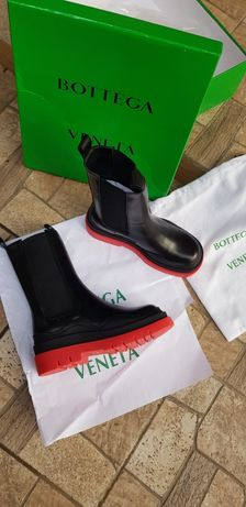 Bottega Veneta bv ботинки Челси на красной подошве
