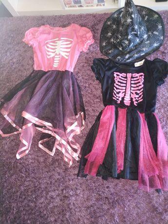 2 vestidos bruxa  e 1 chapéu