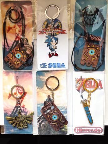 Porta Chaves Zelda e Sonic