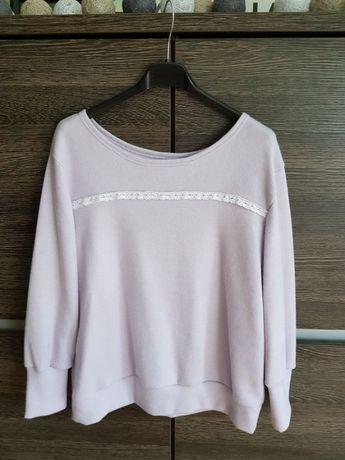 Nowa bluza liliowa sweterek uni