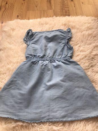 Jeansowa dziewczeca sukienka