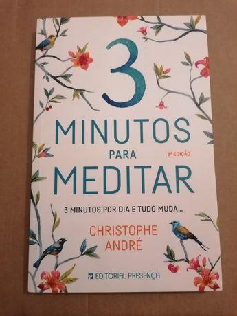 """Livro """"3 minutos para meditar"""" (portes grátis)"""