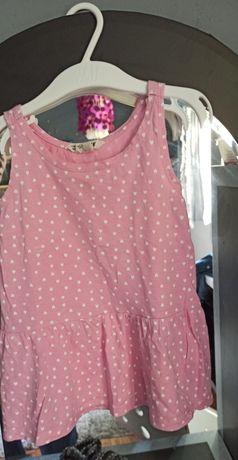 Sukieneczka różowa w serduszka H&M 92