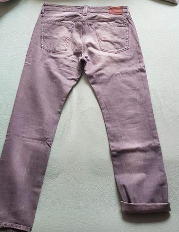 Spodnie szare jeansowe Tommy Hilfiger rozmiar XL 36/34
