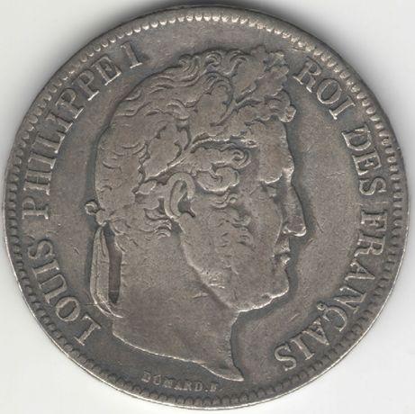 Франция 5 франков 1840 A, Луи-Филипп I. Cеребро