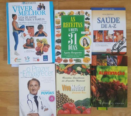 Livros/guias dieta (viva melhor,dieta dos 31 dias,prazer de emagrecer)