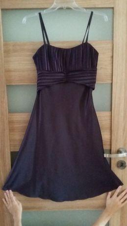 Fioletowa sukienka na wesele