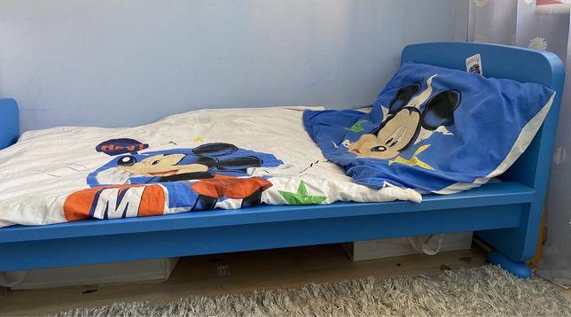 Łóżko dziecięce Mamut ze stelażem i materacem