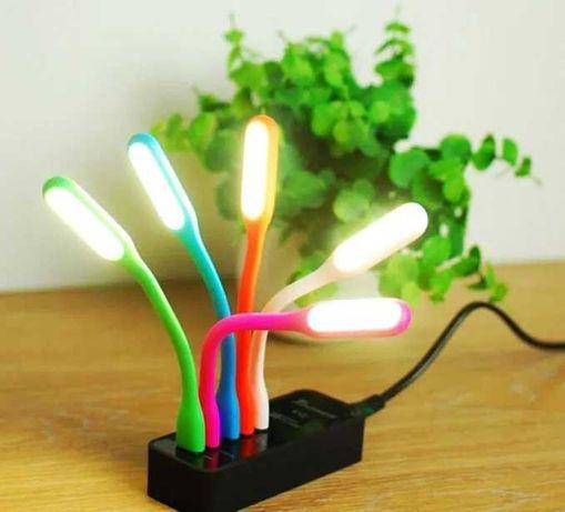 Портативний гибкий USB светильник под ноутбук, повер банк
