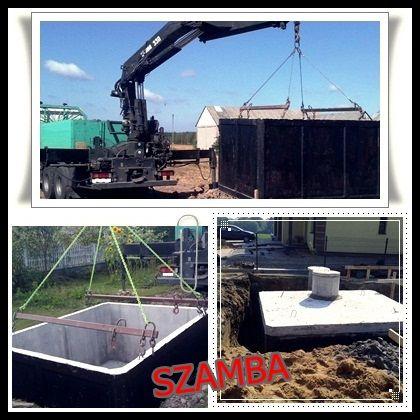 Zbiorniki na szamba SZAMBO betonowe tanio 6m3 TANIO