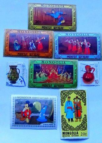 Набор марок театрального искусства республики Монголия