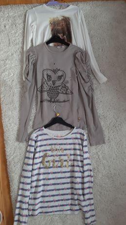 Koszulki dziewczynka 134 9 lat trzy sztuki bawełna Cool Club