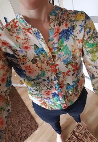 Koszula w kwiaty M 38