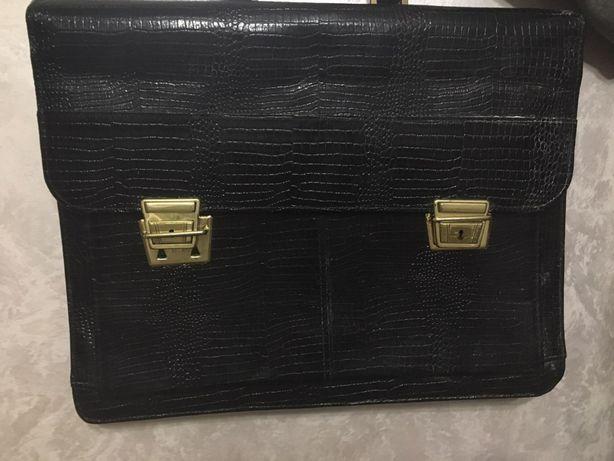 Кожанный портфель | Шкірянний портфель