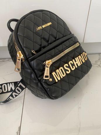 Mini plecak pikowany LOVE Moschino