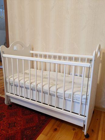 Ліжечко дитяче біле