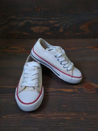 Кеды аналог Converse, кроссовки белые размер 27 стелька 16 см, кросы