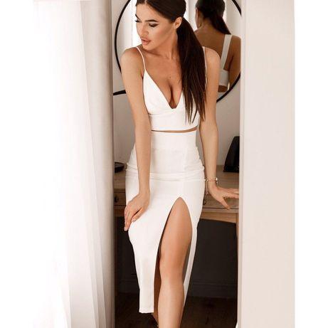 Белый элегантный костюм XS