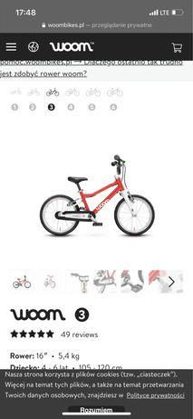 Rower Woom 3 czerwony od reki, wysylka, gwarancja