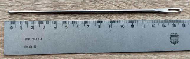 Szydło stal nierdzewna 16 cm z kulką