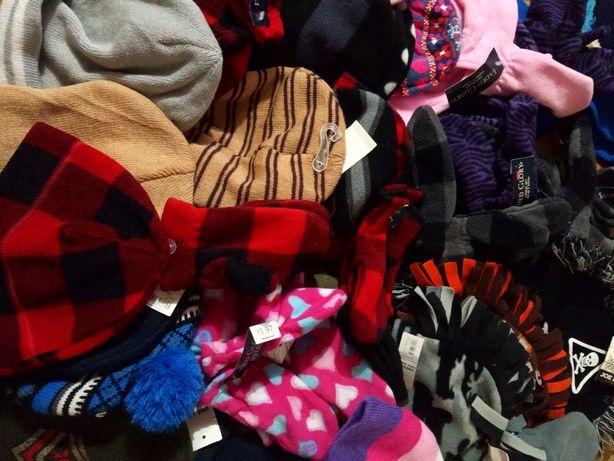 Сток оптом детский комплект шапка перчатки/ варежки от 1-5 лет) 35 шт