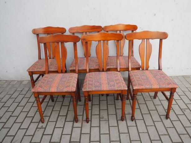 Stylowy komplet 6 krzeseł mahoniowych 647
