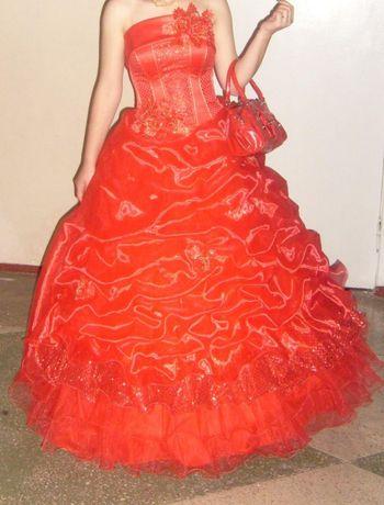 Яркое выпускное бальное платье, сукня для випускного вечора