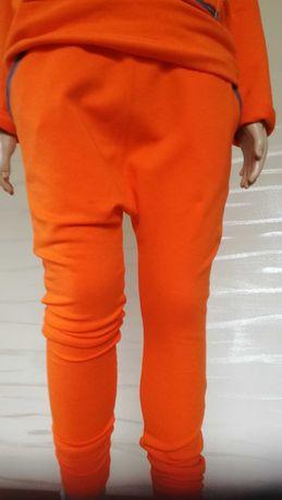 spodnie dresowe baggy z obniżonym krokiem