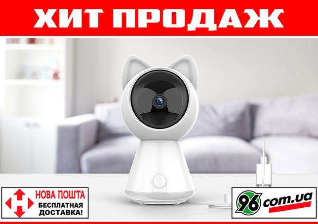 WIFI видеоняня Kitty 1080p с датчиком движения [поворотная ip камера]