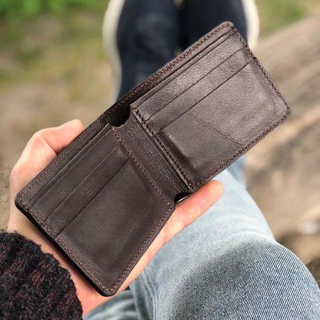 Шкіряний гаманець. Кошелек мужской кожаный бумажник ручної роботи