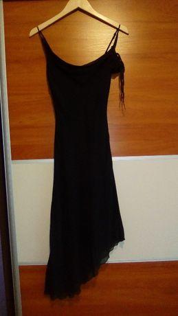 Czarna sukienka wesele impreza rozm.38
