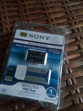 Cartão memória original Sony 1GB com adaptador