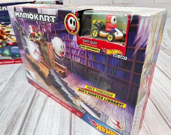 Hot Wheels Mario Kart Жуткий спринт Бу Boo's Spooky Sprint