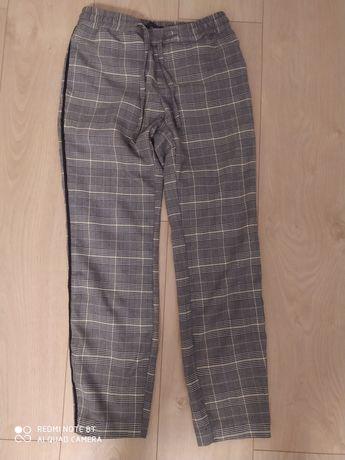 Xs 32 mohito spodnie w kratę szare jesień zima