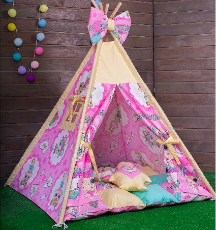 Вигвам для девочки. Детская игровая палатка, домик, шалаш, шатер