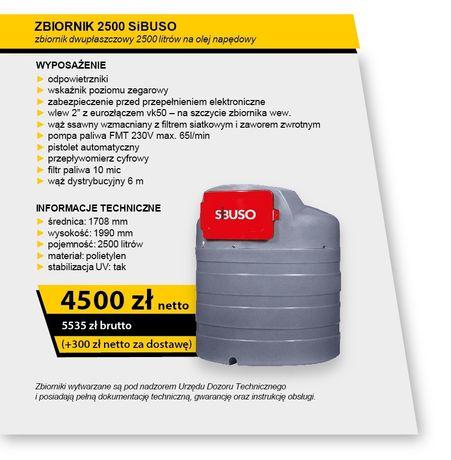 Zbiorniki 2500 Sibuso dwupłaszczowy na olej napędowy